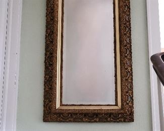 Large, heavy frame mirror