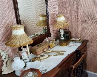 Lady's dressing table and accessories