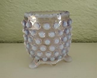 Hobnail Opalescent Toothpick Holder