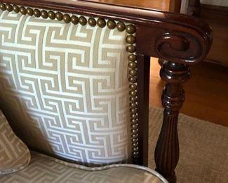 Southwood Sheraton newly upholstered Settee Loveseat