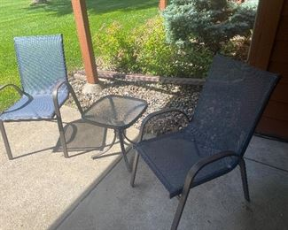 Another outdoor patio set - chairs and table