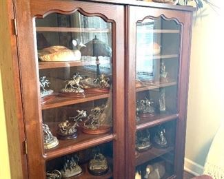 antique cabinet/bookcase