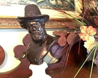 Robert E. Lee  bust (signed Ezekiel)