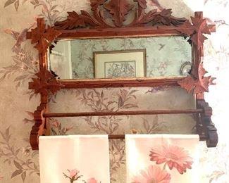 antique towel rack