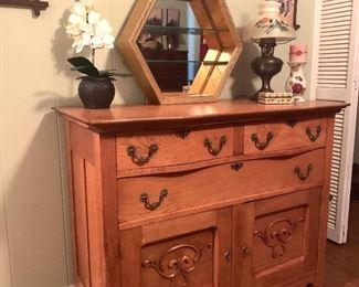 antique oak dresser (or buffet)