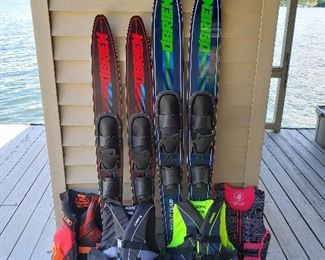 Lifevests and water skis