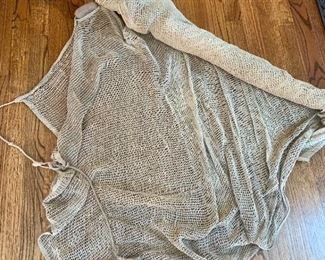 old weighted fishing net