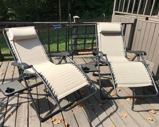 outdoor Sunbrella lounge chairs
