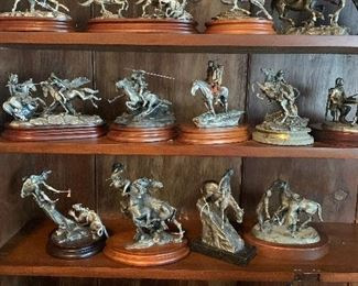 pewter sculptures (several are Chilmark)