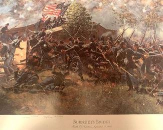 """""""Burnside's Bridge"""" framed by Don Troiani"""
