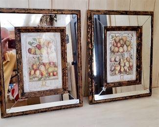 mirrored botanical prints
