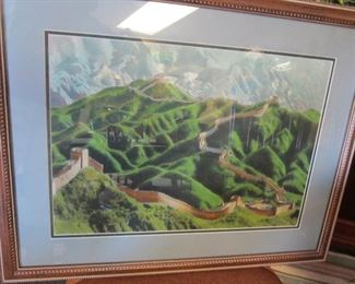 Chinese silk embroidery of the Great Wall
