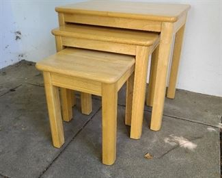 "Nesting tables...dimensions of largest table...21.5"" wide x 15.5"" deep x 20"" tall"