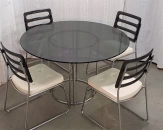 Furniture MCM Chrome Craft Dining Table