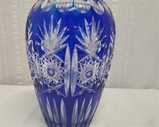 Glass Cobalt Cut To Clear Crystal