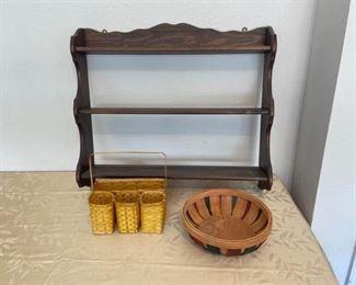 Wall Shelf and Baskets