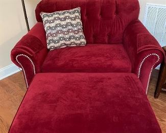 Chair and 1/2 with ottoman