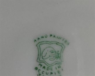 stamp on Occupied Japan plate