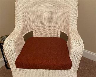 Resin 'wicker' rocking chair