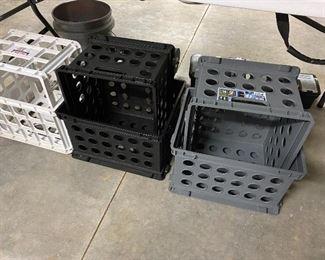 lots of plastic crates