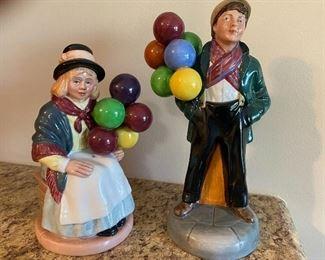 Royal Doulton Balloon Girl and Baloon Boy