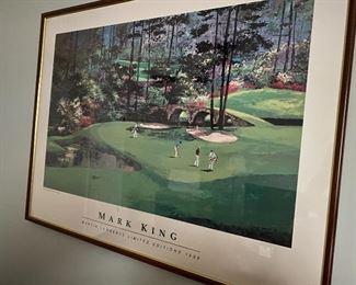 Mark King. Martin Lawrence LTD. Ed. 1989 Golf scene