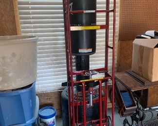 Punching bag, industrial dolly