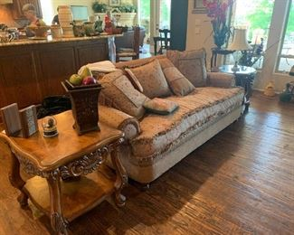 Neiman Marcus upholstered sofa and chairs