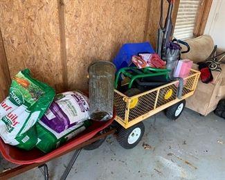 Garden cart soil bags