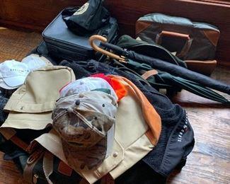 Hunting gear, umbrellas