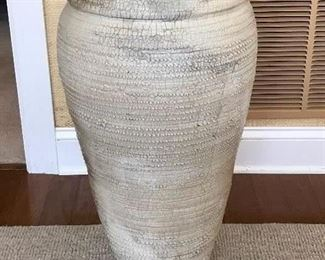 Raku Pottery vase signed Woodford
