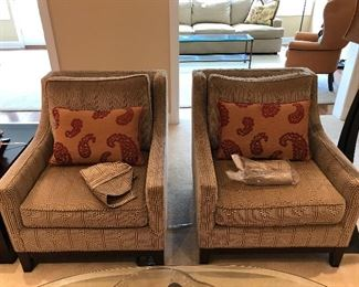 Pair of Pierson Sheared Corduroy Chairs