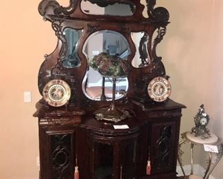 Ornate Tall Antique Cabinet