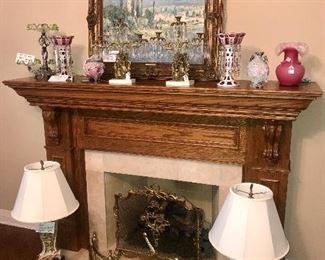 Ornate Capodimonte Lamps