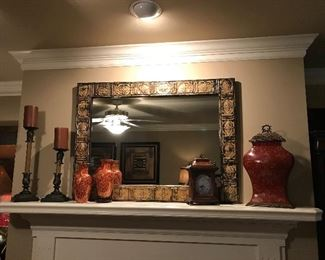 Large mirror and home decor group