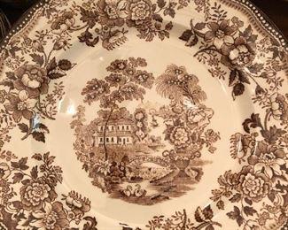 English Staffordshire Dinnerware