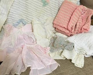 Vintage Baby Items -- there are stains