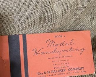 Vintage Handwriting Book