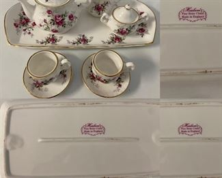 Miniature Tea Set ( Heirloom ) Fine Bone China England-10 pieces