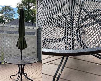 Iron Patio Table with Umbrella