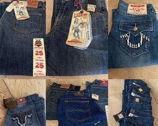 Lots of New With Tags High End Jeans