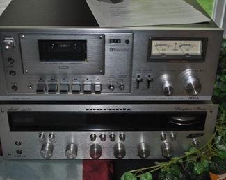 Awia tape deck and Marantz Receiver.