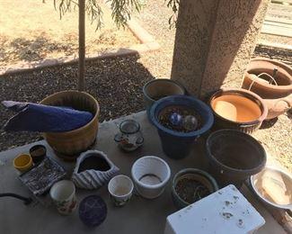 Lots of clay pots