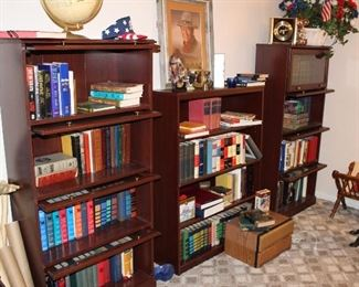 pair barrister's bookcases