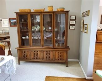 MCM cabinet by white furniture company.   Great set