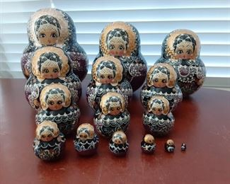 15pc signed Russian Doll set