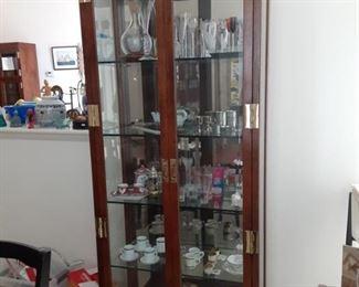 Henredon Campaign Scene cabinets