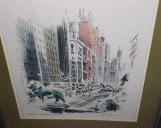 Chicago 1960s print in frame