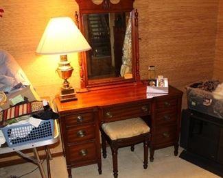 1940s era vanity with stool