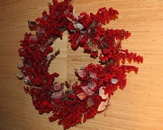 Red berry wreaths
